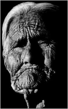 104 year-old Navajo Native American woman living near the rim of Canyon de Chelly, Arizona.