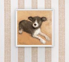 Little Cute Dog Printable Art Original Dog Art Dog Lovers