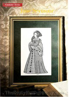 Jane Seymour Cross Stitch & Blackwork Pattern by TheRustyNailPail