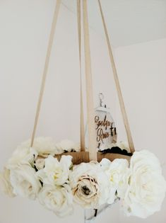 DIY Flower Mobile - such a sweet, shabby chic touch to this nursery!