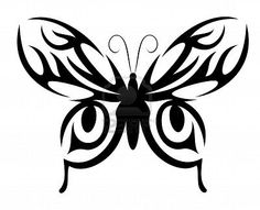 butterfly tribal tatoo