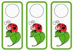 Ladybug themed FREE printable door hangers