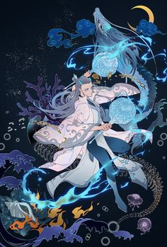 Fantasy Character Design, Character Concept, Character Art, Concept Art, Anime Demon Boy, Anime Guys, Manga Anime, Anime Fantasy, Fantasy Art