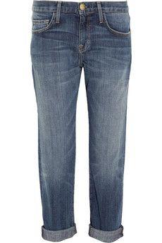 The perfect boyfriend jean // Current/Elliott   The Boyfriend cropped straight-leg jeans