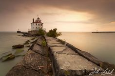 Fairport Harbor West Breakwater Lighthouse by Todd  Sechel on 500px