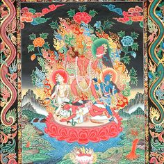 MAA CHINNAMASTA: an epithet of the Hindu Goddess Parvati. This tantric Goddess is one of the Dasa Mahavidyas. She represents self-sacrifice and is honored also in Tibetan Buddhism. She decapitates Her own head to feed Her two attendants, Dakini and Yogini (or Jaya & Vijaya) with Her own blood. This is a metaphor that Divine Energy pours forth from Brahman and energizes sattva, rajas, and tamas gunas simultaneously to maintain material balance. Aum.