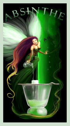 Afbeeldingsresultaat voor the green fairy Absinthe Drinker, Green Fairy Absinthe, Artemisia Absinthium, Unicorns And Mermaids, Art Deco Posters, Shall We Dance, Ad Art, Dragon Art, Mans World