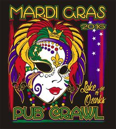Lake of the Ozarks Mardi Gras Pub Crawl - February 20, 2016.