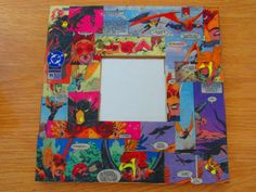 Hawkman Comic Mirror Frame by BooandLil on Etsy