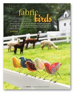 Fabric Birds by Terry Grant as seen on Quilting Arts TV Episode 610 - Media - Quilting Daily