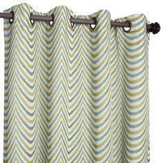 "Blue 84"" Scallop Curtain - Green"