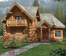Log Cabin ... and this would be THE Dream Home !!  Could handle half the house upstairs (bedrooms) ... just REALLY, REALLY want a log cabin.  =)