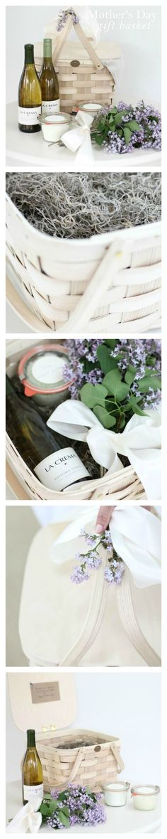 easy, beautiful & thoughtful Mother's Day gift basket that little hands can even help with!   gift idea for Mom or a friend via julieblanner.com
