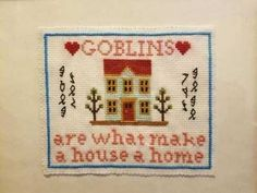 """dirtmunch: """"Hope my roommate likes this lol """" goblin babes forever * - * Anne With An E, Gremlins, Textiles, Goblin, Making Ideas, Needlework, Nerd, Cross Stitch, Crafty"""