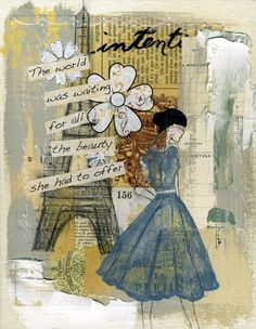 the world was waiting for all the beauty she had to offer, art by jeanne oliver designs