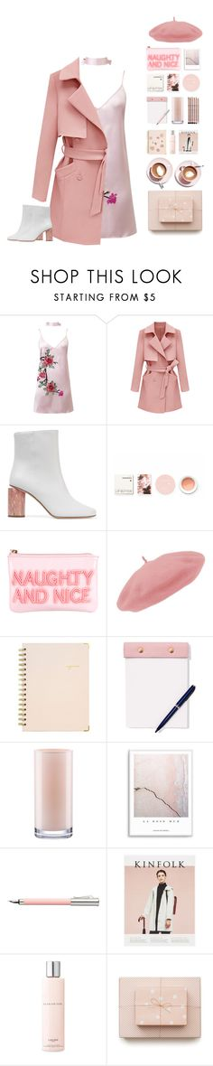 """""""french girl"""" by riasgremoryx ❤ liked on Polyvore featuring WithChic, Acne Studios, Korres, Kate Spade, Martha Stewart, Sugar Paper, StudioSarah, Aveda, Faber-Castell and Lancôme"""
