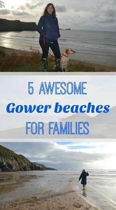 The Gower Peninsular in Wales is an Area of Outstanding Natural Beauty renowned for its breathtaking coastline. Here's 5 awesome Gower beaches for families to visit there. UK family travel tips