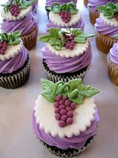 Cute for any party involving wine Wine And Cheese Party, Wine Tasting Party, Wine Parties, Wine Cheese, Themed Wedding Cakes, Themed Cupcakes, Mini Cakes, Cupcake Cakes, Cupcake Ideas