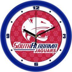 NCAA South Alabama Jaguars Dimension Wall Clock