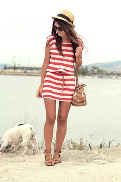 I love this striped dress but need to add a few inches to the bottom :-)
