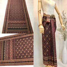 Thailand Outfit, Thailand Art, Thai Traditional Dress, Traditional Outfits, Asian Fabric, Thai Thai, Thai Dress, Asian Fashion, What To Wear
