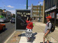 """Urban """"hacktivists"""" - reclaim advertising space for the public realm - Toronto Culture Jamming, Toronto Street, Urban Intervention, Advertising Space, Public Realm, Community Space, How To Influence People, Urban Renewal, Guerrilla"""