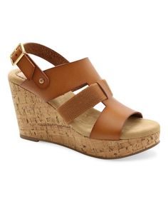 Look what I found on #zulily! Tan BeeBee Wedge Sandal #zulilyfinds
