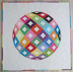 Modern Wall hanging Quilt Pattern- Geometric  Colorful 3D quilt pattern- English paper piecing quilt pattern