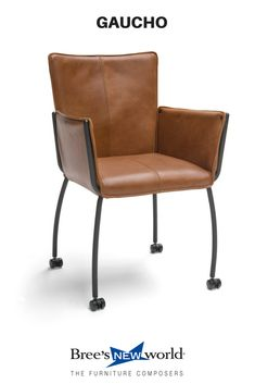 De eetkamerstoel Gaucho is nu ook leverbaar op wielen. #eetkamerstoel #diningchair #diningroomideas #wooninspiratie #wonen #interieur #leer #leather #chair #modernfurniture #living #livingroom #design #furniture