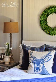 Holiday Housewalk 2014 by Dear Lillie - reindeer pillow