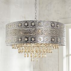Large Bohemian Crystal Chandelier Champagne
