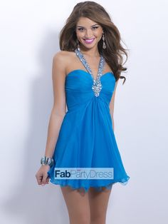 A-line Straps Beading  Sleeveless Short / Mini  Chiffon Cocktail Dresses / Homecoming Dresses