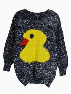 cfc2c3cf7bb Blue Fluffy Duck Knit Jumper