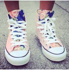 ab464c24e6 Floral Converse by UrbanEclectics on Etsy