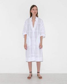 Rachel Comey Dune Dress in White 50 Fashion, White Fashion, Fashion 2018, Fashion Dresses, Fashion Design, Fashion Ideas, Linen Dresses, Casual Dresses, Summer Dresses