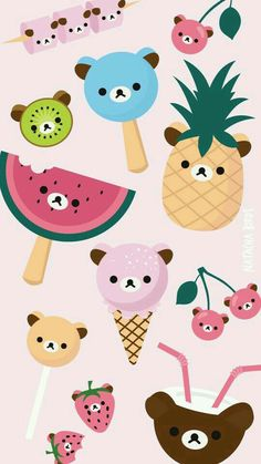 animal face fruit wrapping paper | printables