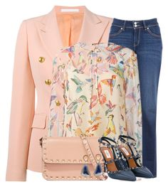 """Touch of Spring"" by easy-dressing ❤ liked on Polyvore featuring Tagliatore, Levi's, RED Valentino and Valentino"
