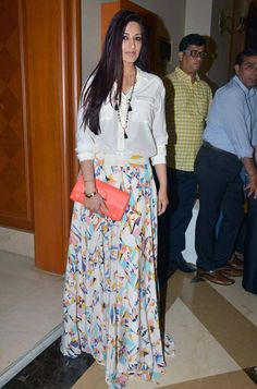Sonali Bendre at Twinkle Khanna's book launch. #Bollywood #Fashion #Style #Beauty