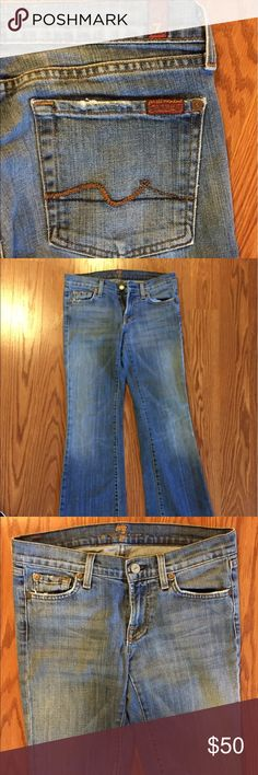 7 jeans Size 27 . 7 jeans. They have a patch in the inside top. Doesn't really show when wearing since it's in the inside. 7 For All Mankind Jeans