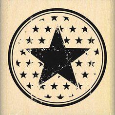 Tampon bois - Histoire de Style - Ma Star - 4,4 x 4,4 cm