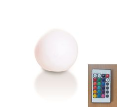 Dafne by Plart Design, New Surface Finish Polished Opal.  Lighting SPHERE with base for floor backing. LED RGB light wireless, with Remote Control for change colour and intensity of the light, plant as standard.  http://bit.ly/29AxK2v