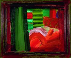 """Howard Hodgkin In Bed in Venice 1984 - 1988 38 ⅝ x 46 ⅞"""", Painting Oil on wood Abstract Painters, Abstract Art, Howard Hodgkin, Colour Field, Art For Art Sake, Contemporary Artists, Abstract Expressionism, Art Blog, Art Boards"""