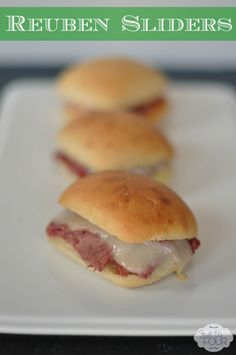 Oh, sliders are our favorite. Love the idea to make a Reuben into a slider. #recipes #StPatricksDay