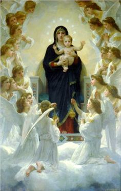 The Virgin with Angels - William-Adolphe Bouguereau, c.1900, 196/243.