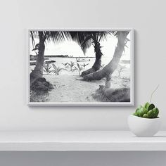 Palm tree wall art Palm tree Printable Palm tree and Beach