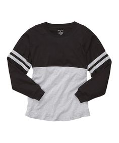 Look at this Boxercraft Black & Oxford Pom-Pom Jersey Lounge Top - Unisex & Plus Too on #zulily today!