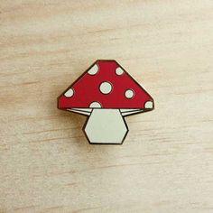 Image of Origami pins: Mushroom
