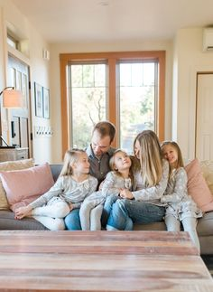 Gorgeous Southwest Washington Home | Lifestyle Family Photo Session | Pacific Northwest Wedding and Portrait Photography | Cozy in Home Lifestyle Session | Adorable Family on Couch.jpg
