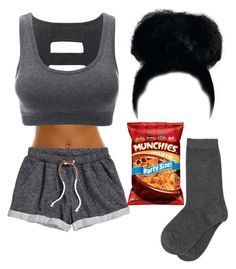 """""""This is How To End Your Day."""" by queenboldon ❤ liked on Polyvore featuring H&M and Doublju"""