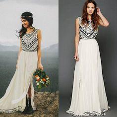Vestido de noiva Hippie Boho Chic Alternativo
